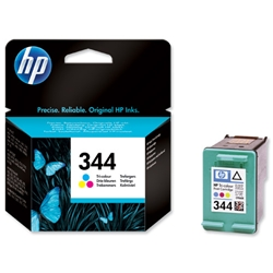 Hewlett Packard HP No. 344 Inkjet Cartridge Page Life 450pp Colour Ref C9363EE-abb