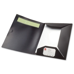 Rexel Ecodesk Flap Folder with ID Panel A4 Black Ref 2102153 - Item image