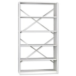 Trexus Delta Office Shelving System Starter Bay Standard Depth 6 Shelves Activecoat W1000xD300xH1880mm