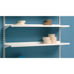 Trexus Top Shelf Additional Shelf for Shelving Unit W1000xD270mm White Metal Ref O20743/4 - Pack 4