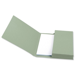 5 Star Premier Document Wallet Full Flap 285gsm Capacity 32mm Foolscap Green - Pack 50