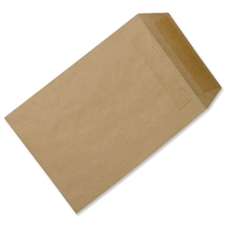 5 Star Office Envelopes Mediumweight Pocket Press Seal  90gsm Manilla 254x178mm - Pack 500