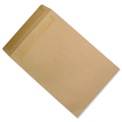 5 Star Office Envelopes Mediumweight Pocket Press Seal  90gsm Manilla 381x254mm - Pack 250