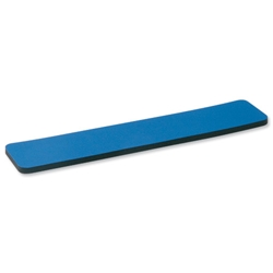 5 Star Office Wrist Rest with 6mm Rubber Sponge Backing Blue