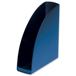 5 Star Office Magazine Rack File Low Sill W80xD254xH310mm Blue