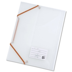 5 Star Premier 3 Flap Elasticated File Polypropylene A4 Translucent - Pack 5