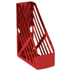 5 Star Office Magazine Rack File Foolscap Red
