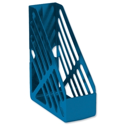 5 Star Office Magazine Rack File Foolscap Blue