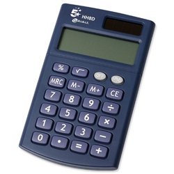 5 Star Office Calculator Handheld 8 Digit 3 Key Memory Battery-power W56xD100xH8mm Ref HH8D