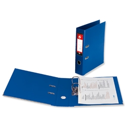 5 Star Premier Lever Arch File PVC Spine 70mm Foolscap Royal Blue - Pack 10