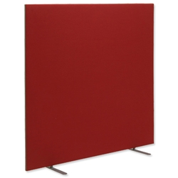 Trexus 1800 Screen Free-standing with Stabilising Feet W1800xH1500mm Burgundy Ref 920942