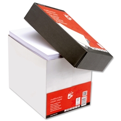5 Star Multifunctional Office Copier Paper 80gsm Fastpack No Wrap A4 White - 2500 Sheets