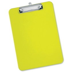 5 Star Office Clipboard Plastic Durable with Rounded Corners A4 Green