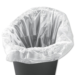 Liners Swing Bin 40 Litre Capacity White [Pack 1000]