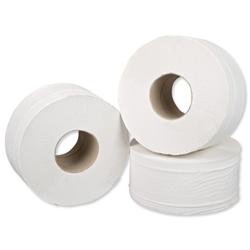 5 Star Jumbo Roll 2-ply 9.5x25cm 200m - Pack 12