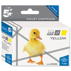 5 Star Compatible Inkjet Cartridge Capacity 3.5ml Yellow - Epson T1284 Equivalent