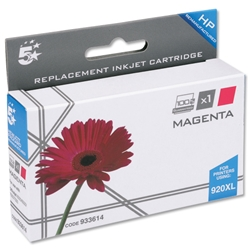 5 Star Compatible Inkjet Cartridge Page Life 700pp Magenta - HP No. 920XL CD973AE Equivalent