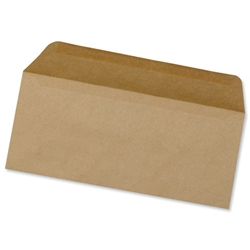 5 Star Office Envelopes Lightweight Wallet Gummed 75gsm Manilla DL - Pack 1000