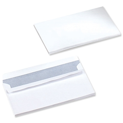 5 Star Office Envelopes Wallet Press Seal 80gsm White DL - Pack 1000