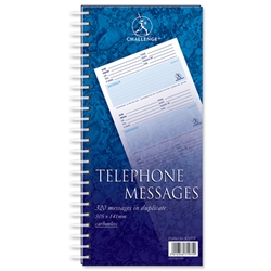 Challenge Telephone Message Book Wirebound Carbonless 320 Messages 305x152mm Ref 100080054