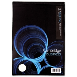 Cambridge Executive Pad Perforated Top 80gsm Ruled and Margin 50 Sheets A4 Vellum Ref 100080211 - Pack 10