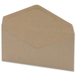 5 Star Office Envelopes Lightweight Wallet Gummed Window 75gsm Manilla DL - Pack 1000