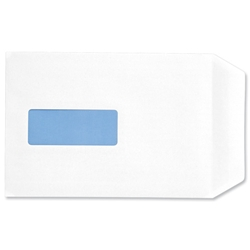 5 Star Office Envelopes Pocket Press Seal Window 90gsm White C5 - Pack 500