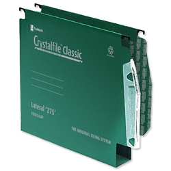 Twinlock Crystalfile Classic Lateral 12 File Manilla 30mm W275xH305mm Green Ref 78656 - Pack 50